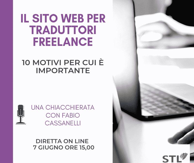 Webinar gratuito – Il sito web per traduttori freelance
