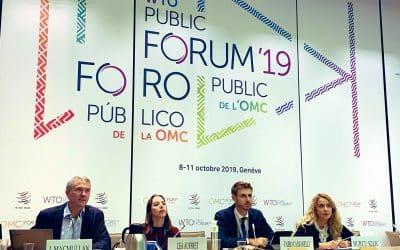 Il riassunto dell'intervento di Fabio Cassanelli al WTO Public Forum 2019